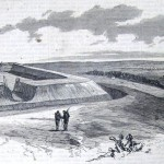 Fort Johnston (identified as Fort Johnson by The New-York Illustrated News), a strong Confederate fortification west of Leesburg, constructed in the winter of 1861-62 (The New-York Illustrated News, November 29, 1862; courtesy of Princeton University Library)
