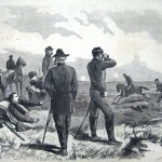 After being wounded on the third day of the Battle of Gettysburg, Union General Hancock dismounted and continued to issue orders despite the injury (The New-York Illustrated Newspaper, August 1, 1863; courtesy of Princeton University Library)