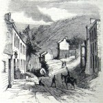 Government supply wagons trundle through Harpers Ferry towards Charlestown (The New-York Illustrated News, November 15, 1862; courtesy of Princeton University Library)