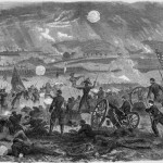 The Confederate attack on Union lines on July 3 (Alfred R. Waud, artist; Harpers Weekly, August 8, 1863; NPS History Collection)