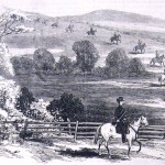 Federal cavalry skirmishers advance on Confederates in one of the South Mountain passes, September 14, 1862 (Frank Leslie's Illustrated Newspaper, October 4, 1862; F.H. Schell, artist; courtesy of Princeton University Library)