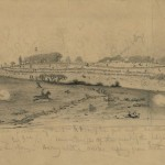 Edwin Forbes' sketch of Pickett's Charge (July 3, 1863, Edwin Forbes, artist; Library of Congress)
