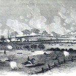 The previous image as it appeared in Frank Leslie's Illustrated Newspaper (Edwin Forbes, artist; Frank Leslie's Illustrated Newspaper, August 1, 1863; courtesy of Princeton University Library)
