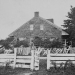 Damage to the fencing of the Thompson home (July 1863; Library of Congress)