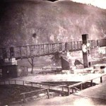 Baltimore and Ohio Railroad bridge at Harpers Ferry as viewed from the Chesapeake and Ohio Canal on the Maryland shore, 1863 (U.S. Army Military History Institute)