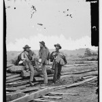Three Confederate prisoners after the Battle of Gettysburg (July 1863, Library of Congress)