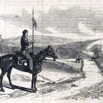 """Members of Rush's Lancers guard the roads around Sharpsburg after the battle """"to prevent the passage of civilians"""" (Frank Leslie's Illustrated News, November 29, 1862; courtesy of Princeton University Library)"""