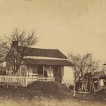 Another view of the Leister home in November 1863 (Timothy H. Sullivan, photographer; Library of Congress)