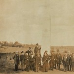 Veterans of the 14th Connecticut stand by the regiment's monument at Antietam, 1894 (Courtesy of http://www.14thconnecticut.org/)