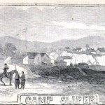 Camp Slifer, near Chambersburg, where many of the soldiers in Union General Robert Patterson's command are being readied for the march south into Maryland (Harper's Weekly, June 29, 1861; NPS History Collection)