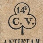 Ribbon for the dedication of the 14th Connecticut monument at Antietam in 1894 (Courtesy of Tad Sattler)
