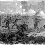 The 42nd New York Volunteer Infantry Regiment (also known as the Tammany Regiment) at the Battle of Ball's Bluff (The New York Illustrated Newspaper, November 11, 1861; courtesy of Princeton University Library)
