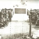 Veterans gather around the monument to the 15th Massachusetts at Antietam in 1900 (Chris Haugh)