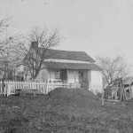 General Meade established his headquarters in Gettysburg in this house owned by Lydia Leister (November 1863; Library of Congress)