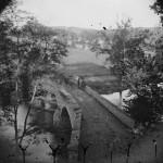 This photograph of Burnside Bridge displays some of the damage to the bridge (1862, Alexander Gardner, photographer; Library of Congress)