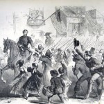 General McClellan and the National Troops Passing through Frederick City in Pursuit of the Rebel Army Their Enthusiastic Reception by the Inhabitants, September 12, (Edwin Forbes, artist; Frank Leslies Illustrated News, October 4, 1862; courtesy of Princeton University Library)