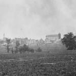 The town of Emmitsburg a month after a destructive fire (July 1863, Timothy F. Sullivan, photographer; Library of Congress)
