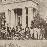 Former slaves who had escaped to Union lines (contraband) stand in front of the former armory superintendents home on Camp Hill, c.August 1862 (George W. Wingate, History of the Twenty-Second Regiment of the National Guard of the State of New York: From its Organization to 1895 [New York: Edwin W. Dayton, 1896], 85)
