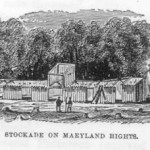 A Confederate stockade atop Maryland Heights (Benson J. Lossing, Pictorial History of the Civil War in the United States of America, vol. 2 [Philadelphia, Pa.: G. W. Childs, 1866], 519)