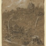 Sketch of a Union signal station on Maryland Heights (c.1862, Alfred Rudolph Waud, artist; Library of Congress)