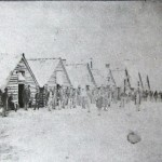 Photograph of the housing of Co. B, 1st Massachusetts Heavy Artillery on Maryland Heights (MOLLUS Collection, U.S. Army Military History Institute)