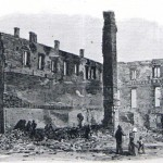 Ruins of the Chambersburg Town Hall (Harper's Weekly, August 20, 1864; courtesy of Princeton University Library)