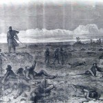The Monocacy battlefield on the night of July 9, 1864 (Demerest's New-York Illustrated News, July 30, 1864; courtesy of Princeton University Library)