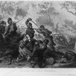Death of Col. Baker, engraved by H. Wright Smith after c.1862, drawing by F.O.C. Darley (Library of Congress)