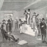 """""""A Slave Auction in Virginia,"""" Illustrated London News, February 16, 1861 (from http://beck.library.emory.edu/iln/)"""