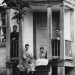 A photograph of the D.R. Miller farmhouse on the Antietam Battlefield, probably taken in September or October of 1862; this detail shows what are thought to be members of the Miller family, including four children. These four children had just witnessed the single bloodiest day in American history. (Library of Congress)