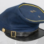 Wool Union cavalry officers forage cap belonging to Captain Joseph H. Clark of the 6th Pennsylvania Cavalry (Gettysburg National Military Park)