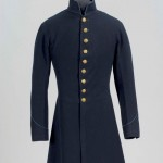 Wool frock coat worn by enlisted men of the 1st South Carolina Infantry (Colored). It has brass eagle buttons down the front. (Gettysburg National Military Park)